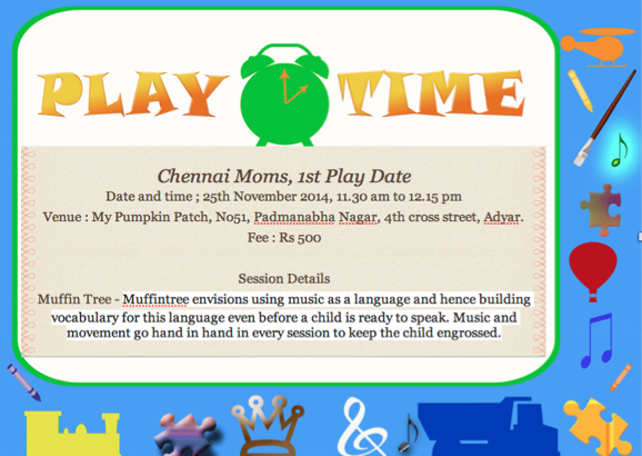 1st Play date in Chennai